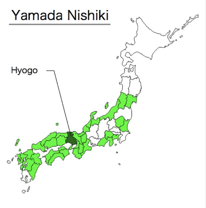 Mappa riso Yamada-nishiki