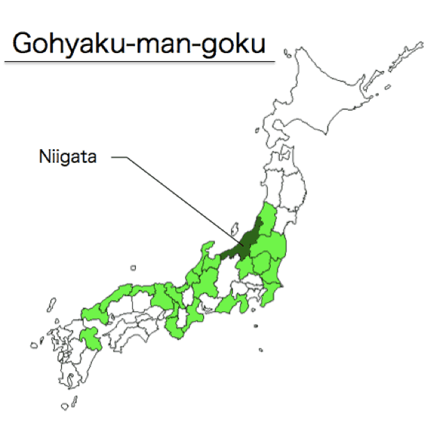 Mappa riso gohyakumangoku